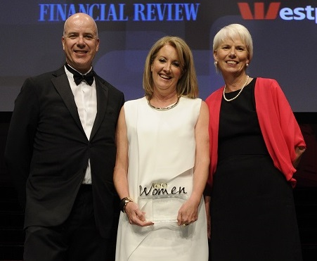 L to R: Fairfax Media CEO Greg Hywood, Sex Discrimination Commissioner Elizabeth Broderick, Westpac Group CEO Gail Kelly